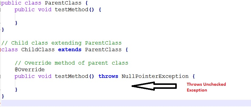 Overriding Method Throws Unchecked Exception