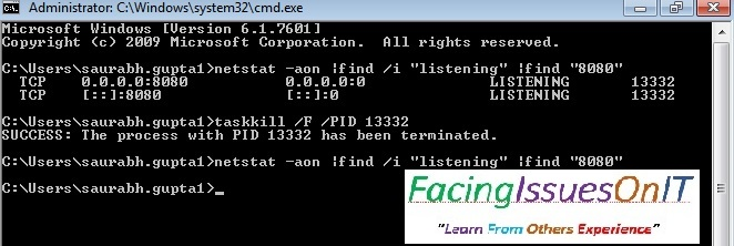 Kill Tomcat process from command line