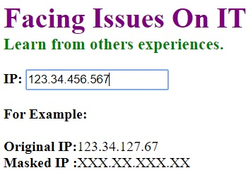Original IP address