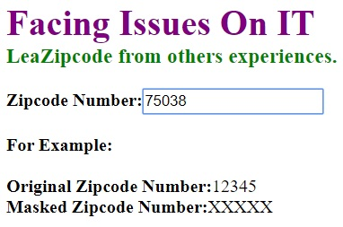 original zipcode
