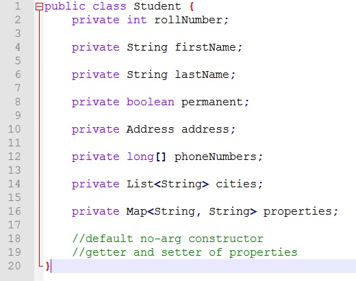 Student Java Object
