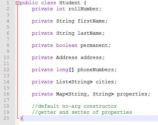 Student Java Object