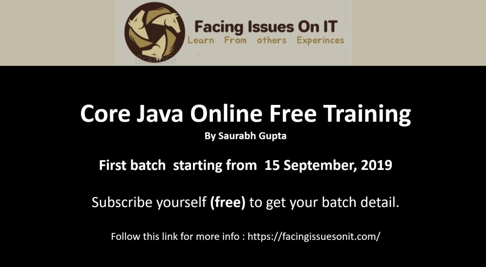 Core Java Online Free Training Course