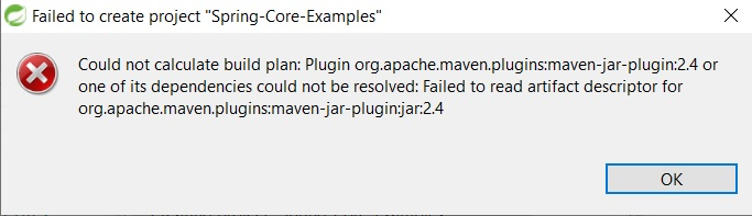 solved  maven error on eclipse  sts   could not calculate